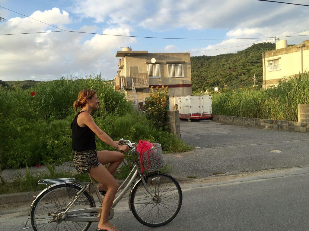 Zamami Island riding bicycle