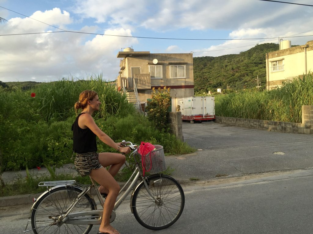Zamami Island riding bicycle