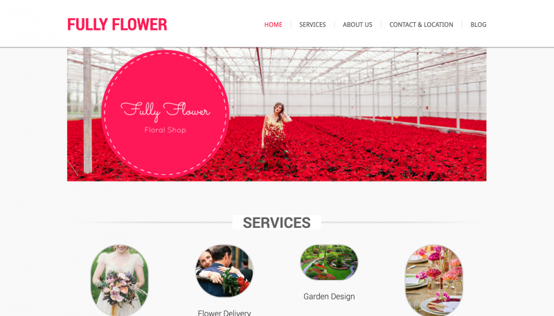 Web Design and Development for Fully Flower