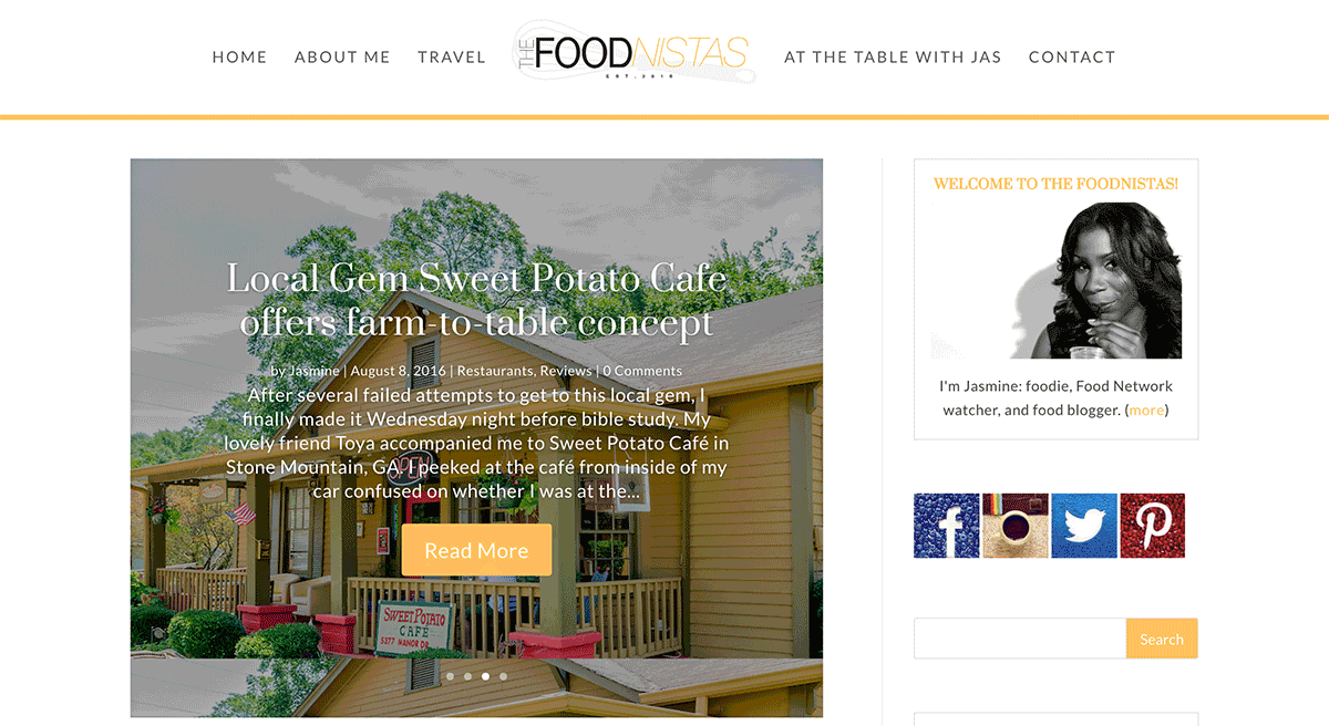 Web Design and Development for The Foodnistas