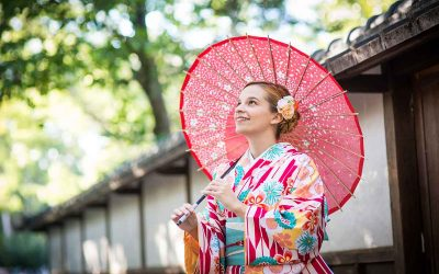 My first time wearing a Japanese Kimono